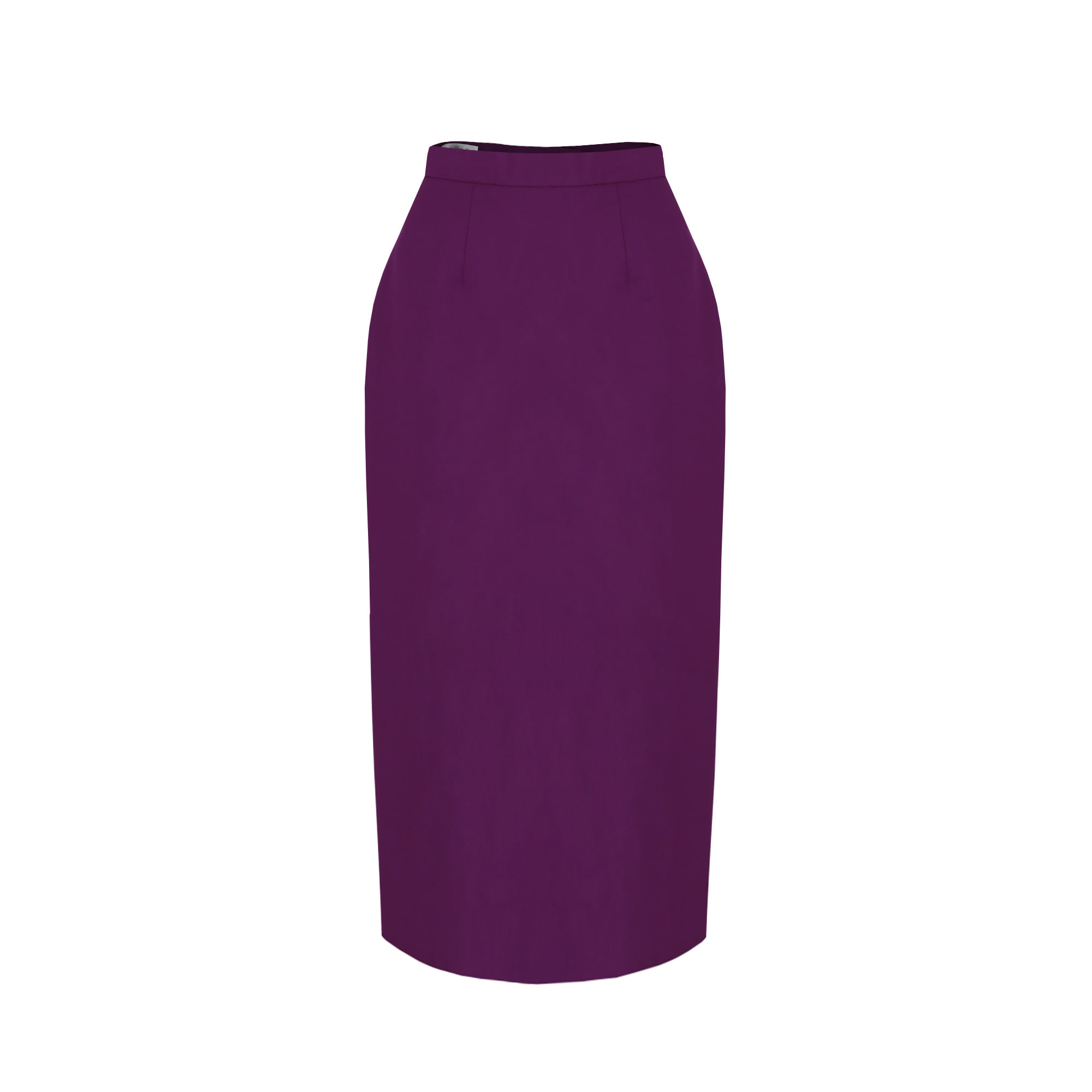 H-Line Midi Skirt (Purple)